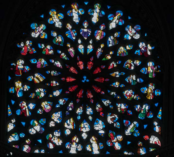 Evreux Cathedral NorthlRose Window The Last Judgment X3