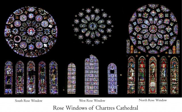 chartres rose windows