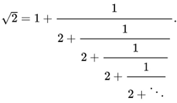 root2 continued fraction