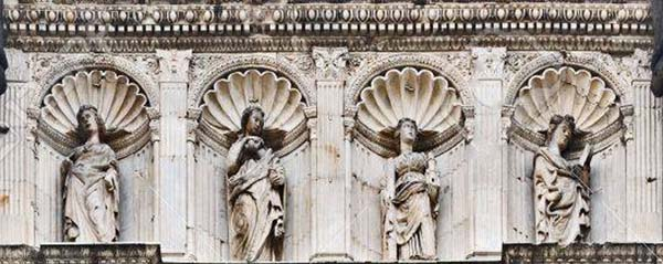virtues castel nuovo triumphal arch entrance naples italy